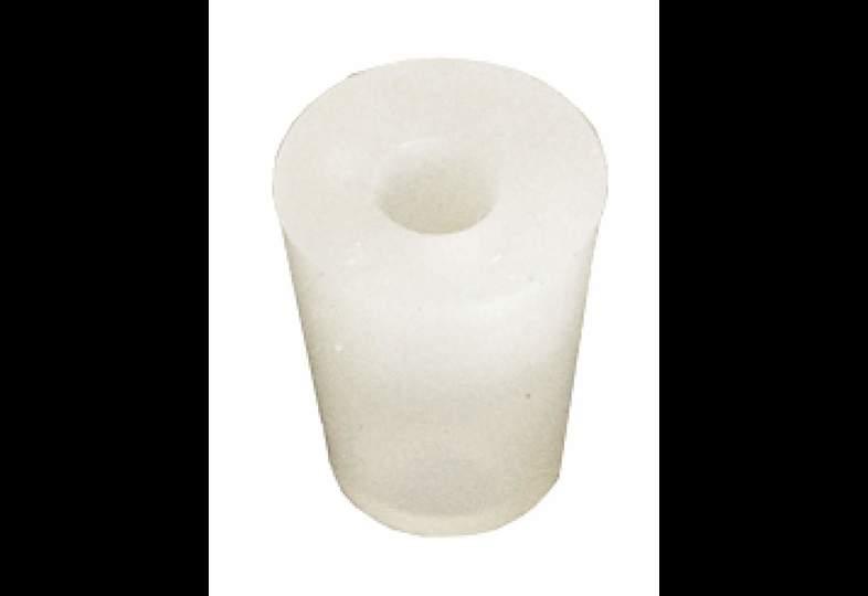 Bouchons et barboteurs - bouchon en silicone 14 à 18 mm, troué 9 mm