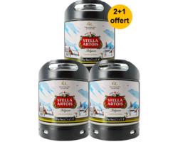 Fûts de bière - Pack 3 fûts 6L Stella Artois Holidays