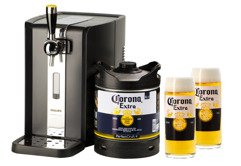 Bottled beer - Pack Tireuse Perfectdraft Corona + 2 verres Corona offerts