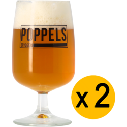 Beer glasses - Pack 2 Verres Poppels 25 cl