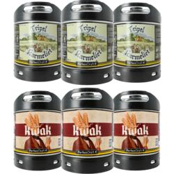 Fûts de bière - Pack 6 fûts 6L : 3 fûts Kwak - 3 fûts Tripel Karmeliet