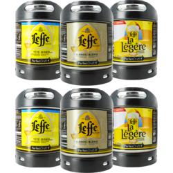 Kegs - Assortiment 6 fûts 6L Leffe : Blonde - La Légère - Été Zomerbier