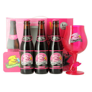 Giftpack Rince Cochon Rouge (3 Flessen 1 Glas)