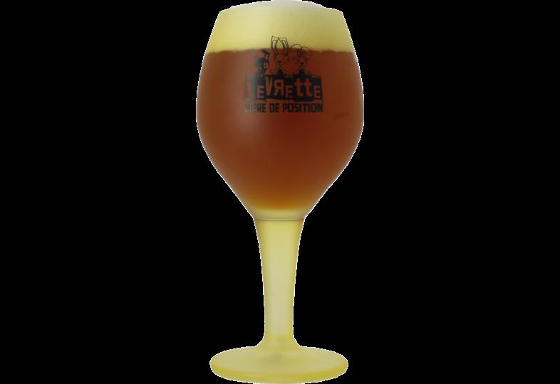 Beer glasses - Levrette Jaune 50cl glass