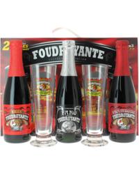Coffrets cadeaux verre et bière - Coffret dégustation Foudroyante (3 bières 2 verres)