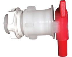 Accessoires du brasseur - Robinet PVC avec contre ecrou