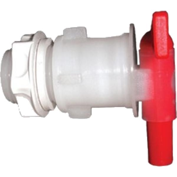 Robinet PVC avec contre ecrou