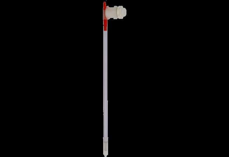 S'équiper pour brasser - Tige d'embouteillage avec connexion au robinet de votre seau, robinet PVC à contre-écrou fourni.