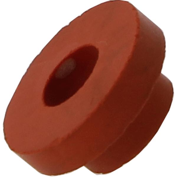 Rubber grommet for brew bucket lid