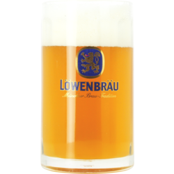 Beer glasses - glass Lowenbrau Bock