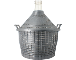Dames-Jeannes - 10 litre standard neck demijohn with basket