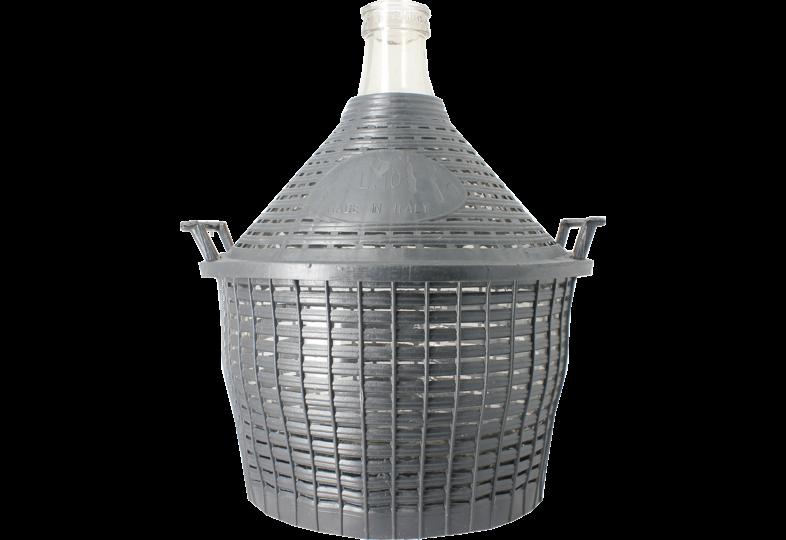 Dames-Jeannes - 10 litre standard neck demijohn with basket