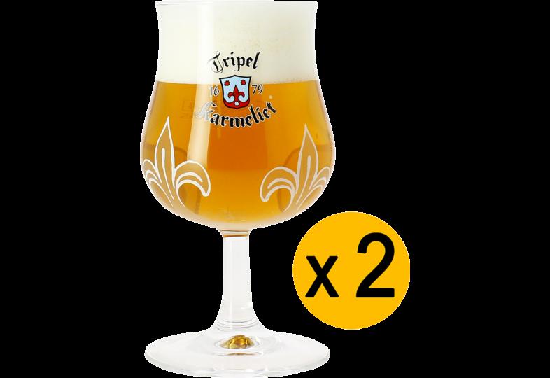 Verres à bière - Pack 2 Verres Tripel Karmeliet - 20 cl