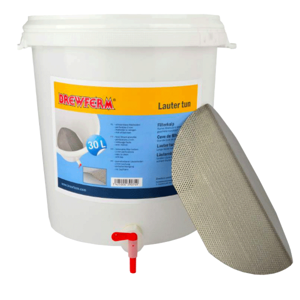 Brewferm 30-litre Filter tank with stainless filter