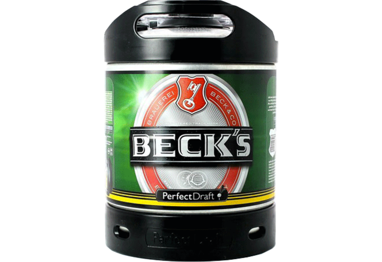 Bier Tapvatjes - Beck's PerfectDraft Vat 6L