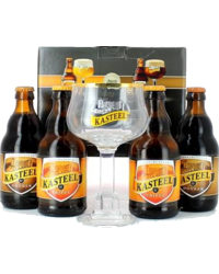 Gift box with beer and glass - Kasteel Giftpack - 4x33cl + 1 glas