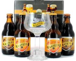 Coffrets cadeaux verre et bière - Coffret Kasteel - 4 bières et 1 verre