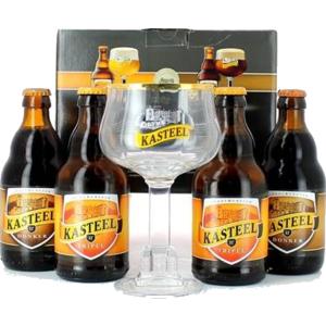 Confezione Regalo Kasteel  (4 birre 1 Bicchiere)