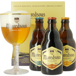 Gifts - Maredsous Gift Pack - 3 beers + 1 glass