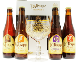 Gift box with beer and glass - La Trappe Giftpack (4 Flessen 1 Glas)