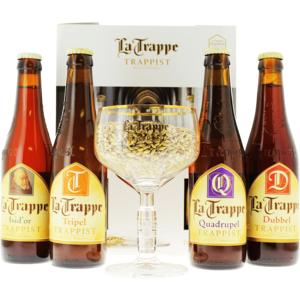 La Trappe Confezione Regalo (4 Birre 1 Bicchiere)