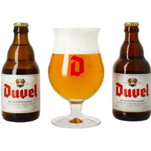Duvel Giftpack (2 Flessen 33cL + 1 Glas)