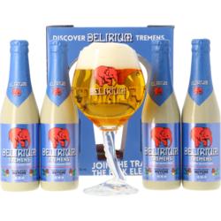 Accessori e regali - Delirium Tremens Confezione Regalo - 4 Birre 1 Bicchiere