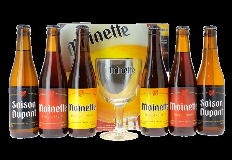 Accessoires et cadeaux - Coffret Moinette (6 bières 33 cl - 1 verre 33 cl)