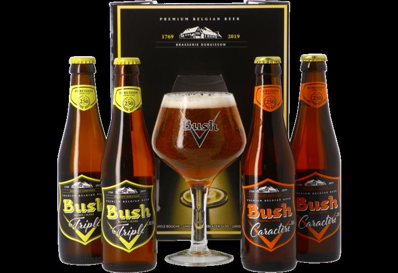 Coffrets cadeaux verre et bière - Coffret Bush (4 bières 1 verre)