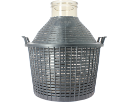 Dames-Jeannes - 20-litre oversize neck demijohn with basket