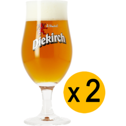 Beer glasses - 2 Diekirch beer glasses - 25 cl