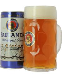 Bier und Glas Sortiment - Pack Paulaner Oktoberfest 1L et Chope 1L