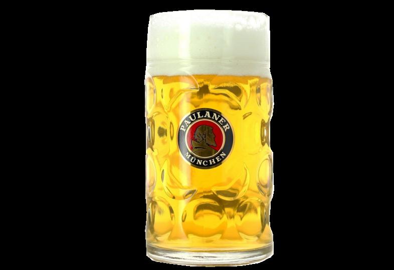 Beer glasses - Paulaner 1l stein beer mug