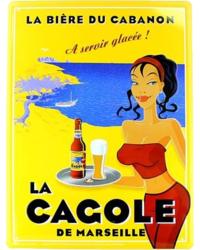 GIFTS - Metal Plate of La Cagole Blond Emblem