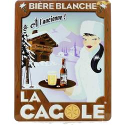 Accessoires et cadeaux - Petite plaque La Cagole Blanche