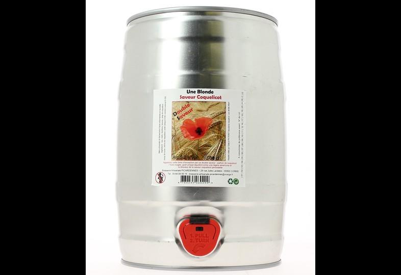 Fûts de bière - Fût 5L La Mascotte Coquelicot