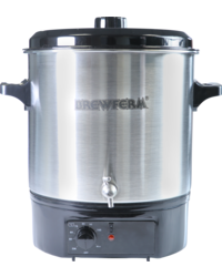 Brewing Accessories - Brewferm electric stainless-steel 27-litre Brew Kettle