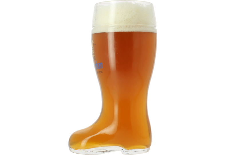 Verres à bière - Verre Botte Weihenstephaner 1L