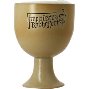 Rochefort earthenware goblet beer glass
