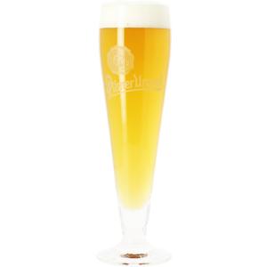 Verre Pilsner Urquell flûte logo blanc