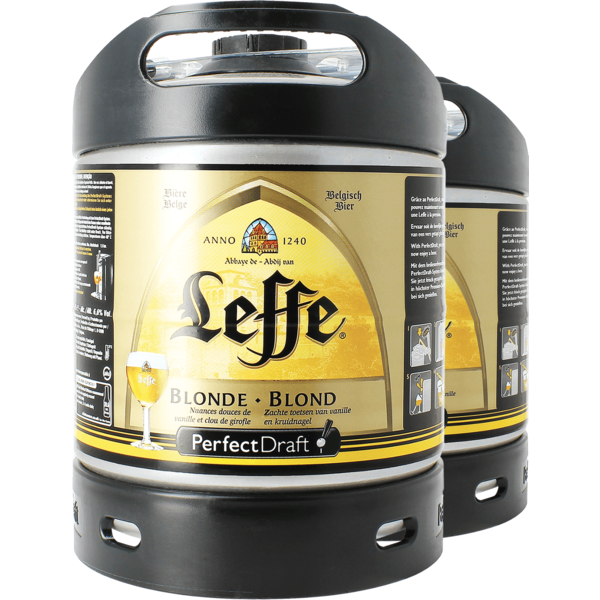 Leffe Blonde PerfectDraft 6L Keg - 2 Pack