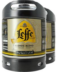 Fûts de bière - Pack 2 fûts 6L Leffe blonde