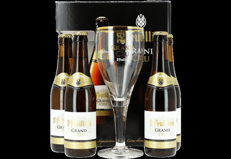 Accessoires et cadeaux - Coffret St Feuillien Grand Cru - 4 bières et 1 verre