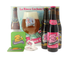 Gåvoboxar med öl och glas - The Winter Rince Cochon Gift Pack