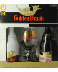 Cadeaus en accessoires - Gulden Draak Giftpack - 2x33cl + 1 glas 50 cl