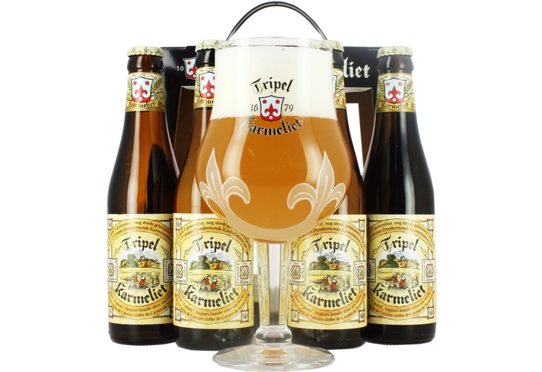 Gift box with beer and glass - Tripel Karmeliet Giftpack
