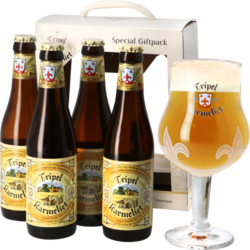 Gift box with beer and glass - Tripel Karmeliet Gift Pack