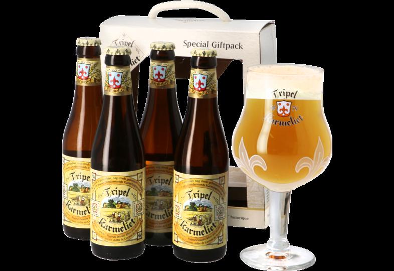 Gåvoboxar med öl och glas - Tripel Karmeliet Gåvopaket 4 Öl + 1 Glas