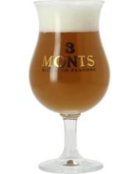 Verres à bière - Verre 3 Monts Tulipe - 25 cl