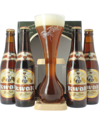 Gift box with beer and glass - Kwak Gift Pack
